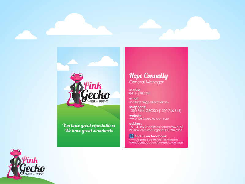 Business Cards Perth with Free Delivery! | Pink Gecko Web + Print