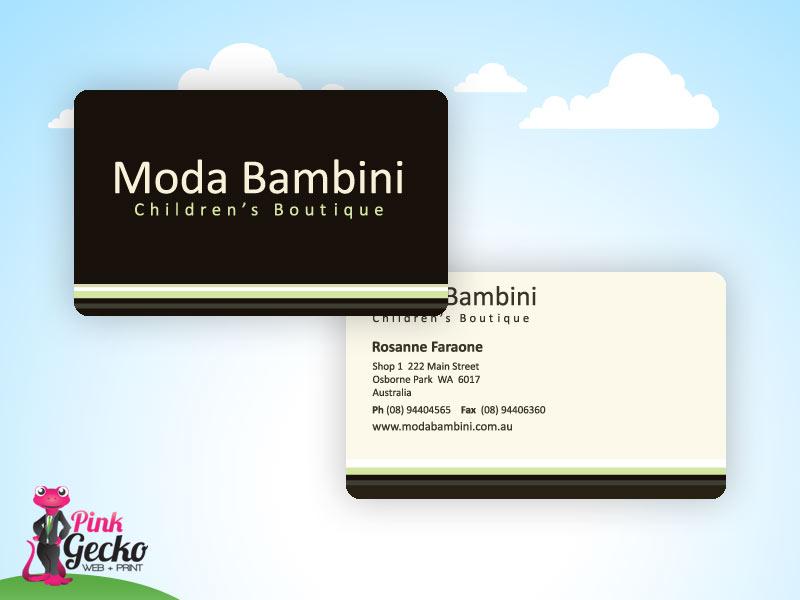 Business Cards Pink Gecko Web Print