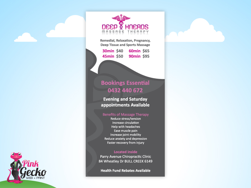 Dl flyers design and printing perth pink gecko web print for Dl brochure template